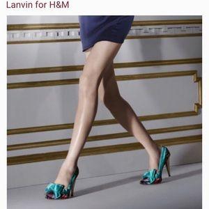Lanvin x H&M floral pumps. Size 37